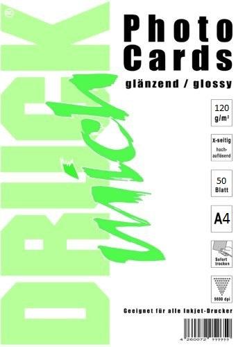 Lesklý fotopapír A4 120g / 50 listů