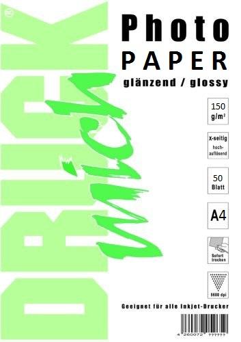 Lesklý fotopapír A4 150g / 50 listů
