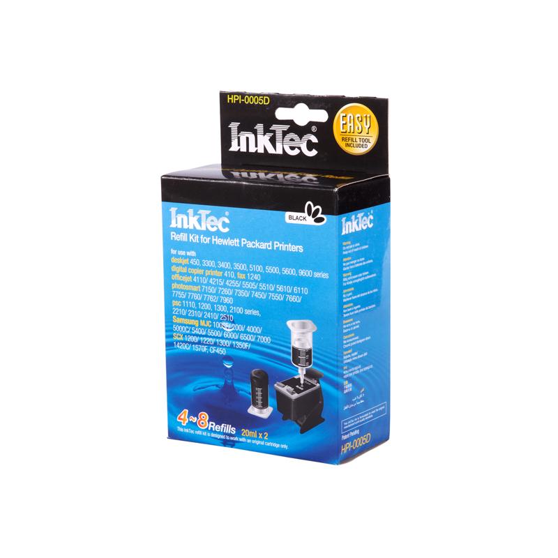 Plnící sada INKTEC pro HP 21/27/56 + plnící držák / 2x20ml - exclusive quality