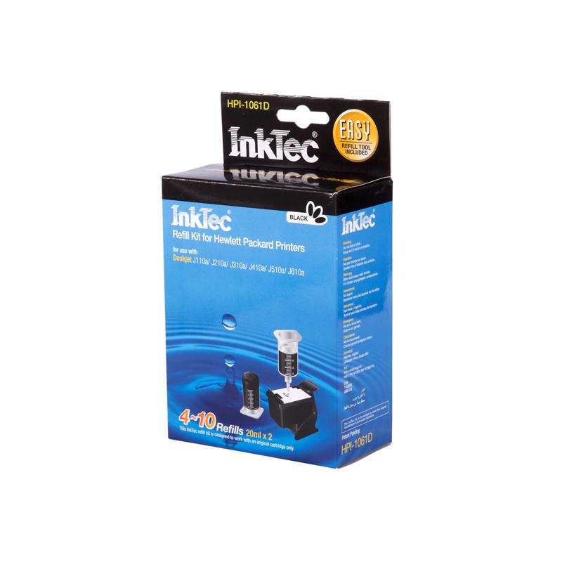 Plnící sada INKTEC pro HP 301 (XL) Black + plnící držák / 2x20ml - exclusive quality