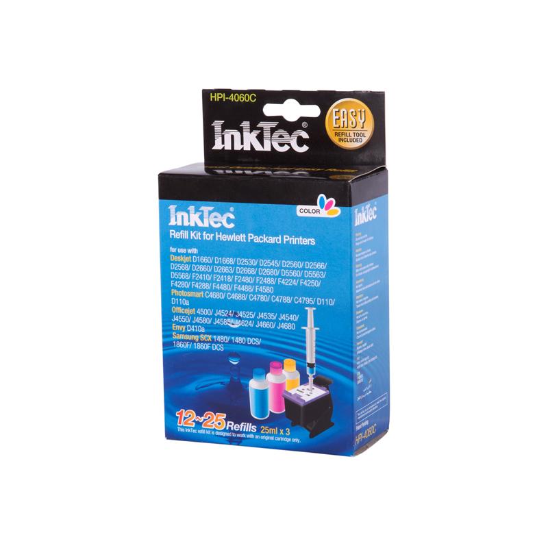 Plnící sada INKTEC pro HP 301 (XL) Color + plnící držák / 3x25ml - exclusive quality