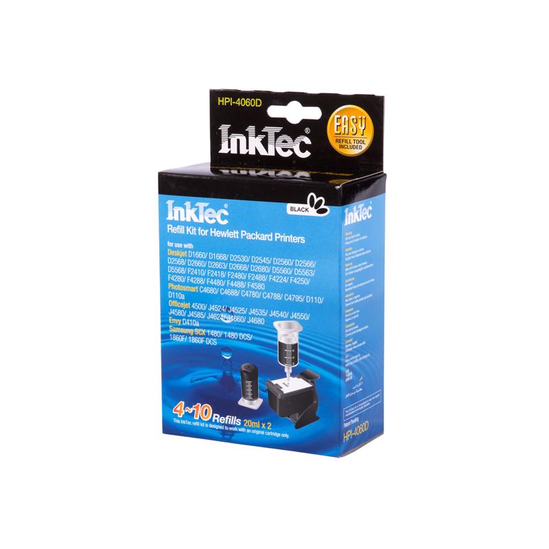Plnící sada INKTEC pro HP 300/901 (XL) + plnící držák 2x20ml - exclusive quality