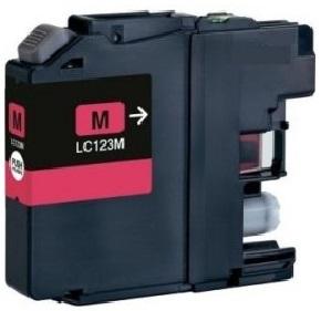 Brother LC-123 purpurová kompatibilní náplň / 10ml