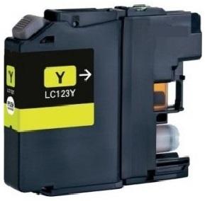 Brother LC-123 žlutá kompatibilní náplň / 10ml