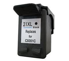 HP č.21XL (C9351) černá kompatibilní náplň / 18ml