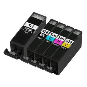 Multipack 5ks kompatibilních náplní PGI-525BK a CLI-526BK/C/M/Y s čipem