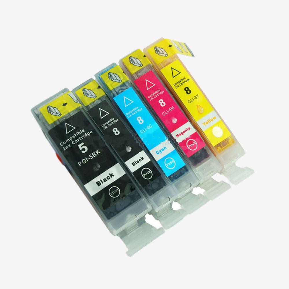 Multipack 5ks kompatibilních náplní PGI-5BK a CLI-8BK/C/M/Y s čipem